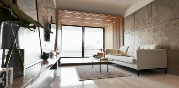 Japandi Wohnzimmer gestalten Wohntrends 2020 Inneneinrichtung Ideen