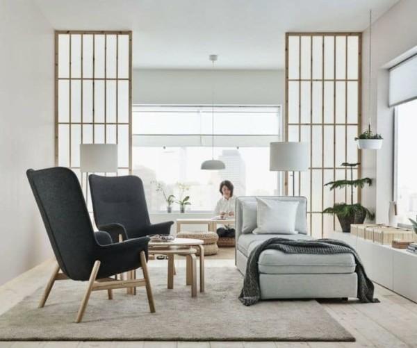 Japandi japanischer Wohnbereich Wohntrends 2020 Inneneinrichtung Ideen