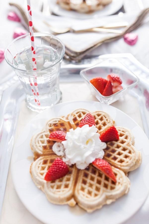 Leckere Waffeln - Valentinstag Frühstück