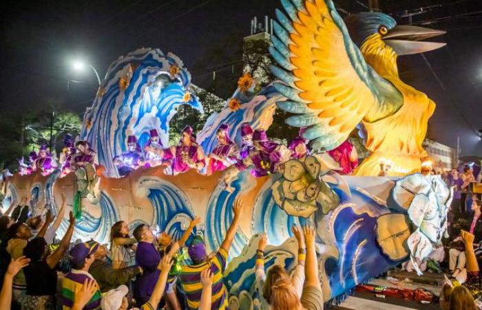 Mardi Gras Karneval feiern auf Amerikansich tagelang feiert man in New Orleans