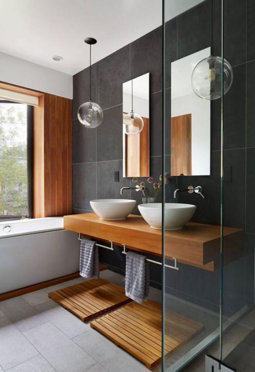 Modernes Licht im Bad fernöstliches Flair eine entspannte Atmosphäre für Relax