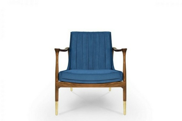 Pantone Farbe des Jahres 2020 Polsterstuhl Classic Blue