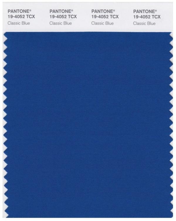 Pantone Farbe des Jahres 2020 klassisches Blau Classic Blue