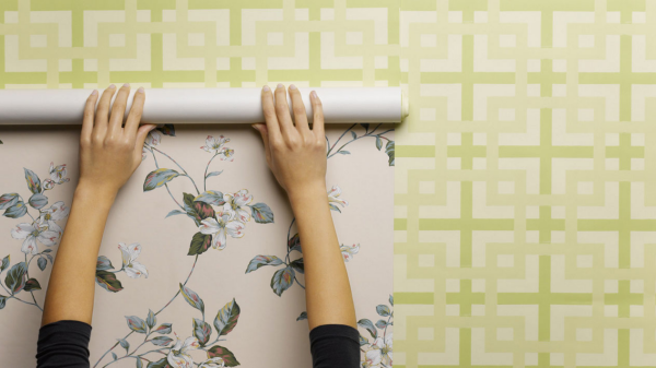 Tapeten abmachen schöne Muster - Tricks