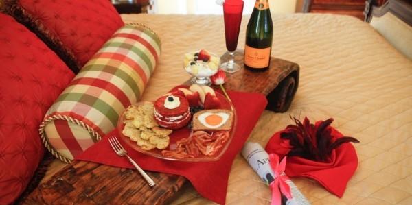 Tischgestaltung - Ideen für den Valentinstag Frühstück