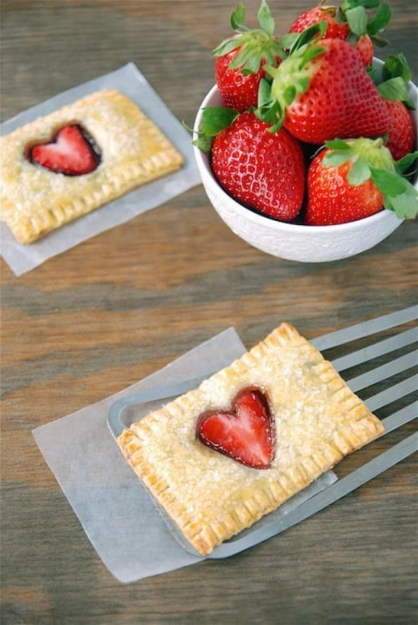 Valentinstag Frühstück - Erdbeeren Frühstück