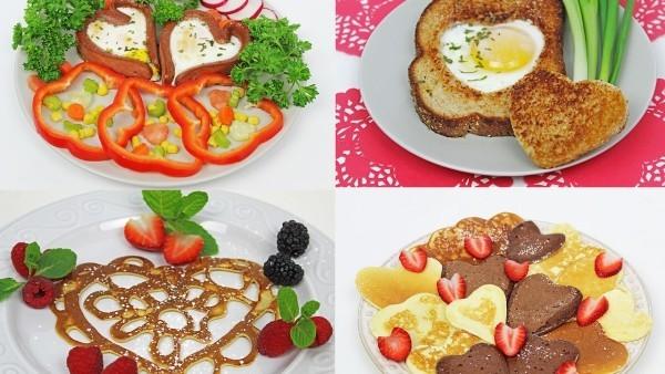 Valentinstag Frühstück - Frühstück Teller DIY
