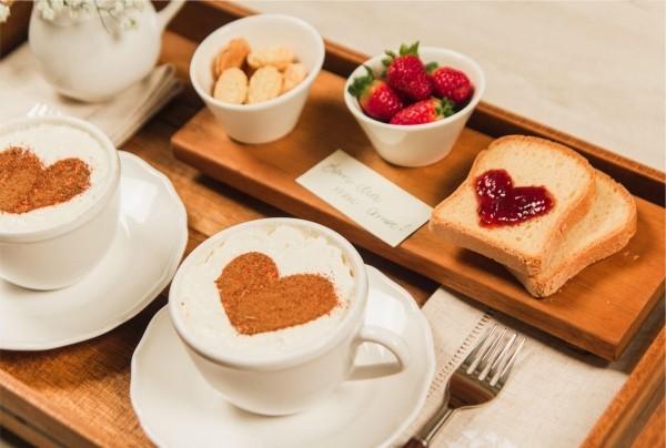 Valentinstag Frühstück Inspiration DIY Ideen Valentinstag