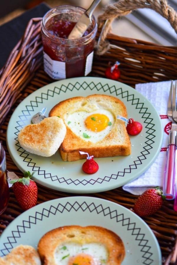Valentinstag Frühstück einfache Ideen einfache Rezeptideen
