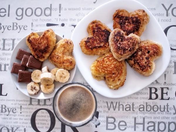 Valentinstag Frühstück - gesundes Leben romantische Überraschungen