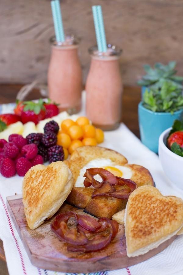Valentinstag Frühstück - tolle Ideen für Waffeln