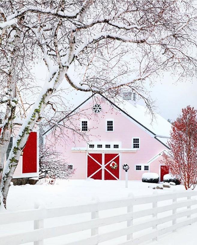 Winterwunderland Kennebunk Maine USA viel Schnee draußen ein Haus Hof
