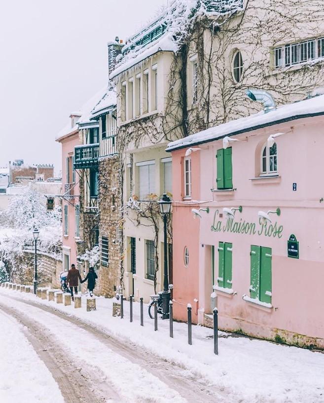 Winterwunderland Paris ewige Stadt der Liebe Tausende Touristen auch im Winter