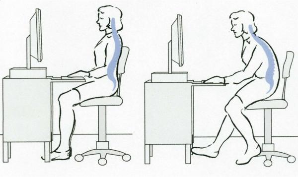 Witwenbuckel Übungen Kyphose Wirbelsäule Rundrücken richtig sitzen