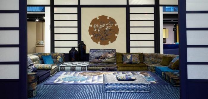blautöne designer interior ideen asiatisch
