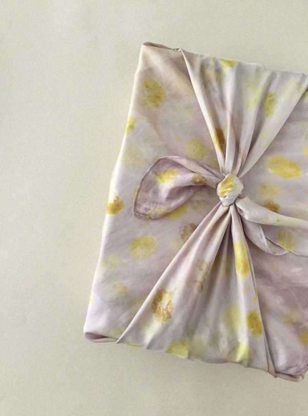 diy ideen geschnenkverpackung mit furoshiki tuch