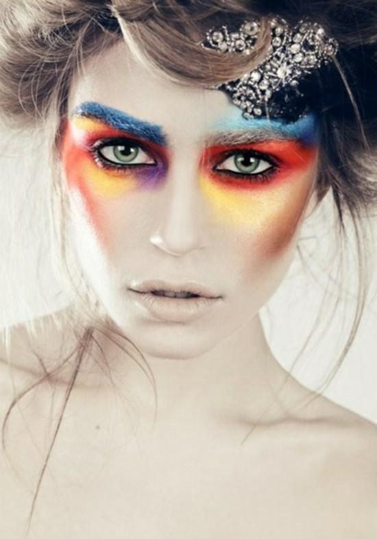 dramatische schminkideen zum karneval
