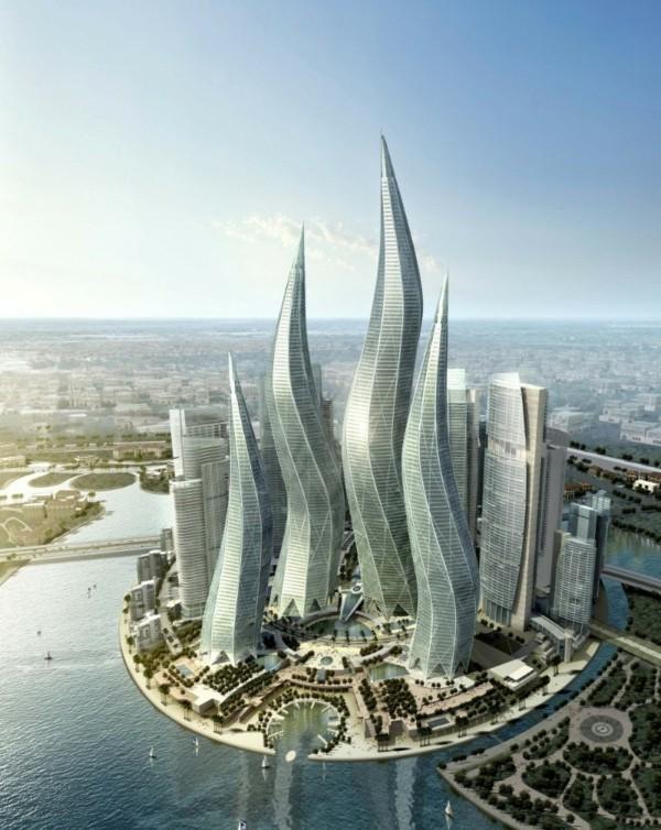 dubai türme the lagoons bionik beispiele architektur