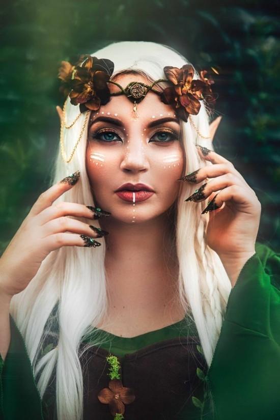 elfe schminkideen zum karneval