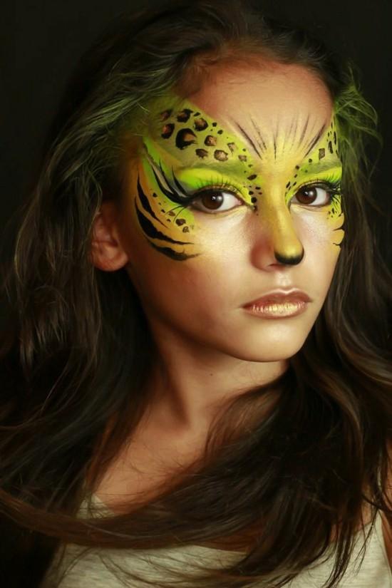 fasching schminken augen schminkideen leoparden