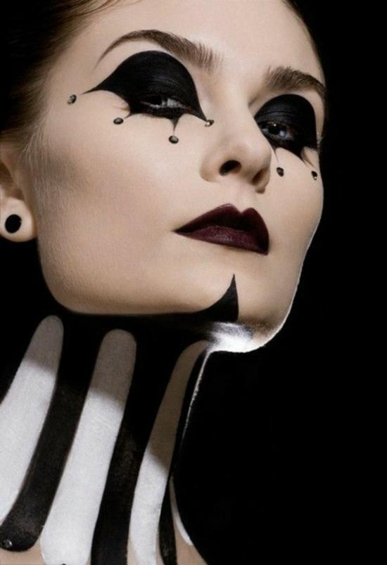 fatale dame clown schminken zum fasching