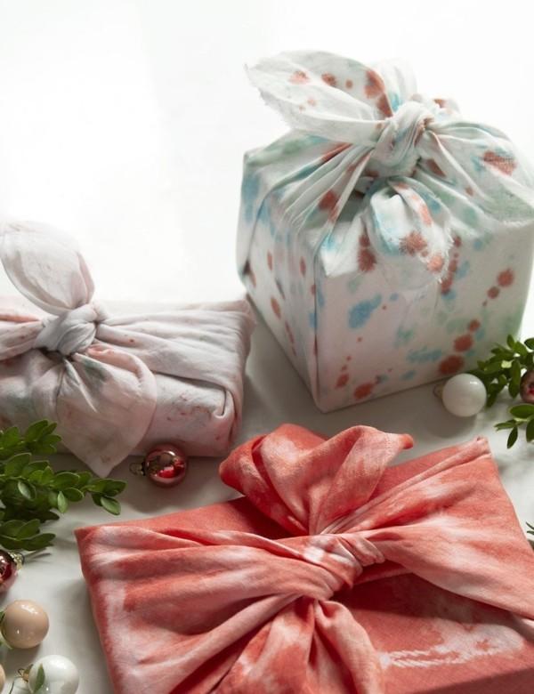 geschenke verpacken mit furoshiki tuch