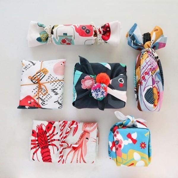 geschenke verpacken zero waste furoshiki tuch
