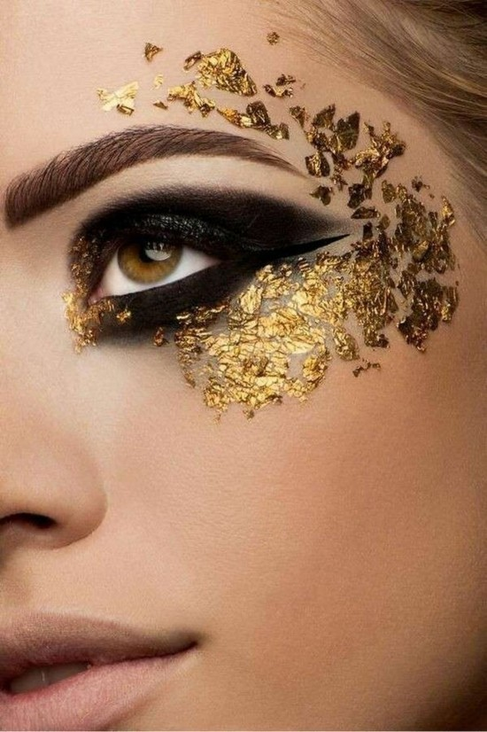 gold make up schminkideen fasching