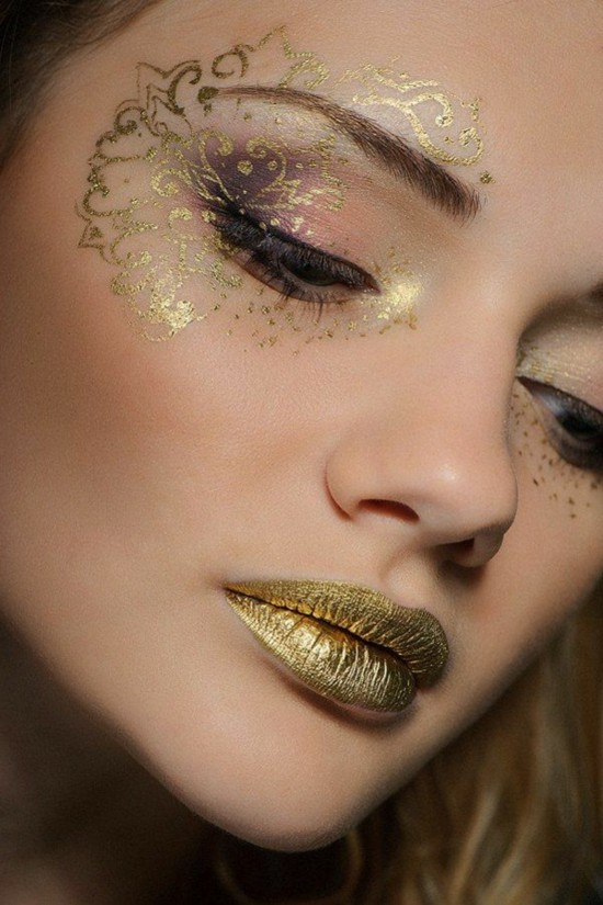 goldene schminkideen karneval
