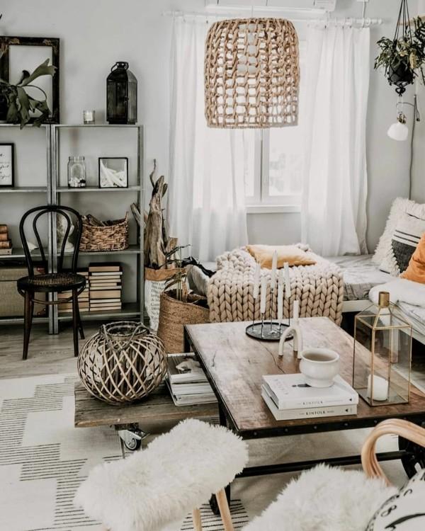 hygge einrichtung wohnzimmer mit dekostoffen