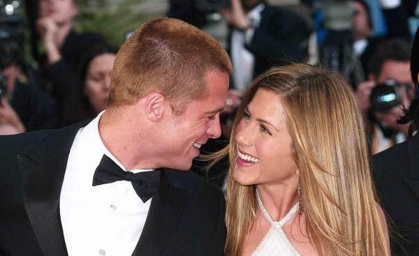 jennifer aniston glückliches Bild Brad Pitt