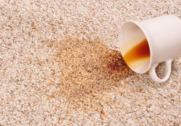 kaffeflecken entfernen teppich saubermachen