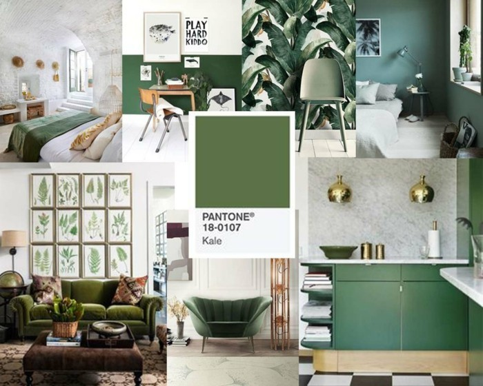 kale pantone farbe grünkohl interiordesign
