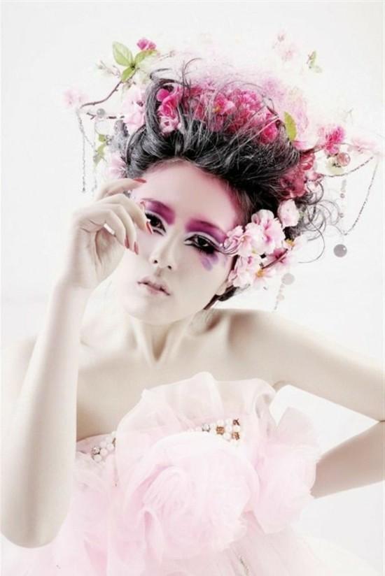 karneval schminkideen augen schminken asiatisch