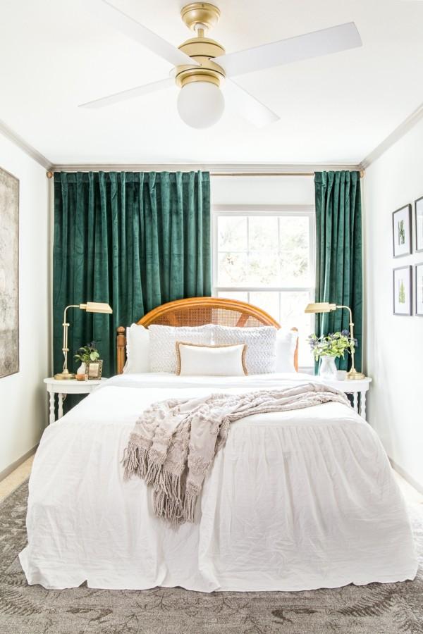 kleines gästezimmer einrichten mit textilien