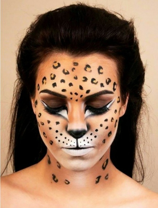 leopard make up fasching schminkideen