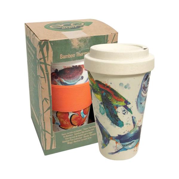lila und orange ideen kaffeebecher bambus