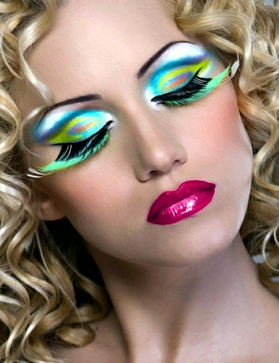 neon make up fasching schminken