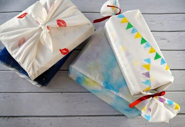 originelle geschenkverpackungen mit furoshiki tuch