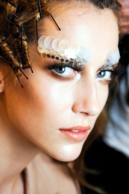 pailletten augen make up schminkideen