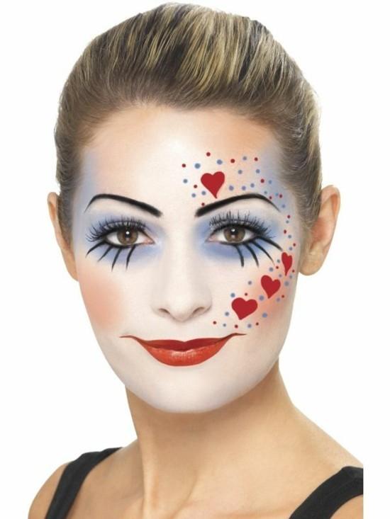 schminkideen clown schminken zum karneval