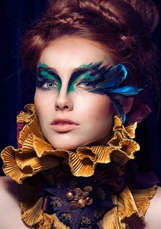 schminkideen mit federn zum karneval