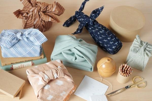 upcycling geschenkverpackungen mit furoshiki tuch