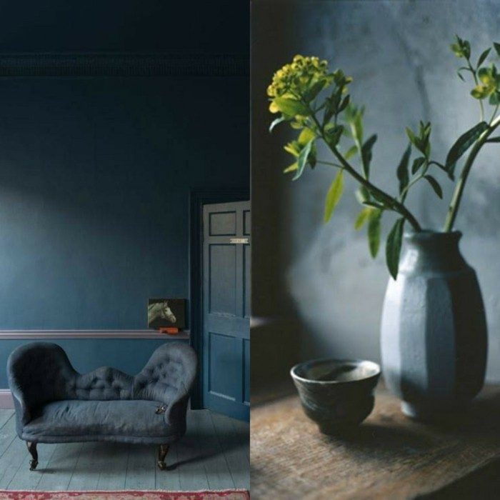 wandfarben blautöne dunkelblau