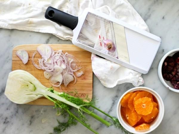Fenchel Fenchelsalat mit Orangen zubereiten Zutaten