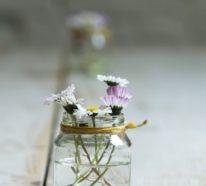 30 einfache Ideen mit Blumen für Frühlingsdeko im Glas 2020