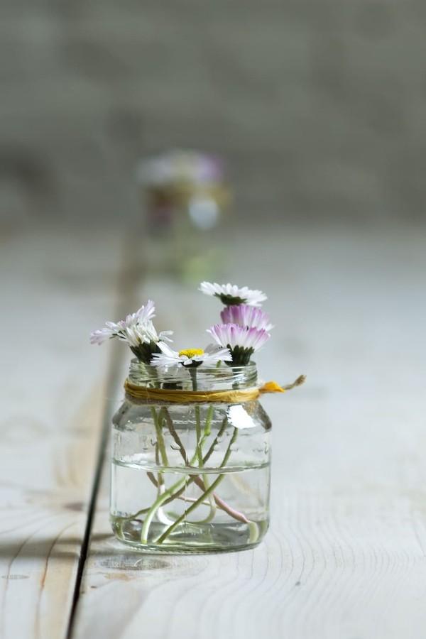 Frühlingsblumen - DIY Deko Ideen Frühlingsdeko im Glas