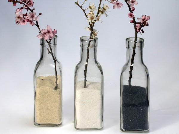 Frühlingsdeko im Glas DIY Deko Ideen
