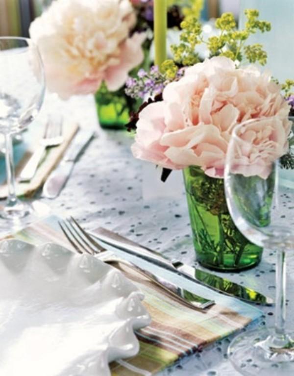 Frühlingsdeko im Glas - Tisch einrichten - Selber machen