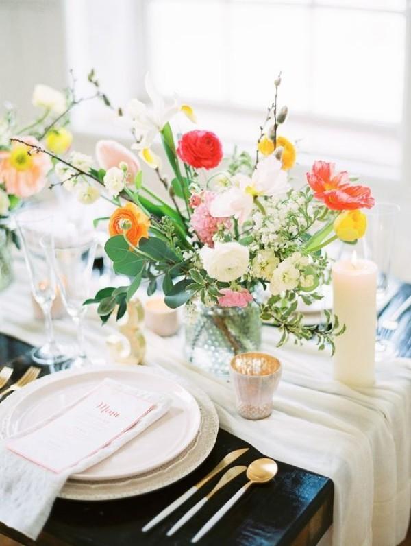 Frühlingsdeko im Glas - Tischdeko - tolle Blumen
